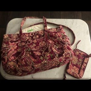 Vera Bradley large bag and matching wallet